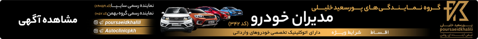 گروه نمایندگی های پور سعید خلیلی - صفحه خودرو