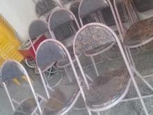 صندلی فلزی تاشو در شیپور-عکس کوچک