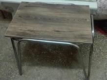 میز عسلی پایه فلزی با روکش mdf قیمت مقطوع در شیپور-عکس کوچک