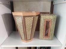 سطل و جعبه جا دستمال کاغذی خاتمکاری در شیپور-عکس کوچک