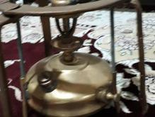 چراغ پریمس برنجی کوچک قدیمی سالم دکوری سوئدی در شیپور-عکس کوچک
