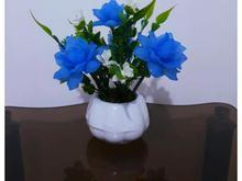 گلدان گل رز آبی  در شیپور-عکس کوچک