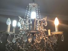 لوستر شیشه و فلز  در شیپور-عکس کوچک
