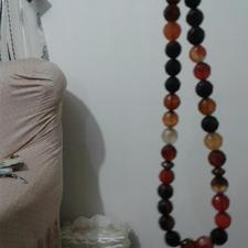 تسبیح عقیق دست تراش در شیپور-عکس کوچک