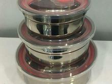 ظروف نگهداری غذای سه تکه استیل+send در شیپور-عکس کوچک