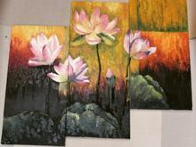 تابلو 3 تیکه رنگ وروغن بهار در شیپور-عکس کوچک