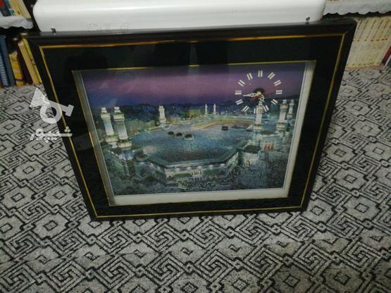 تابلوی مکه مکرمه ساعت دار درحد نو در گروه خرید و فروش لوازم خانگی در سمنان در شیپور-عکس1