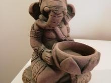 مجسمه گانش و بچه بودا  در شیپور-عکس کوچک