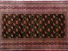 قالیچه دست بافت کرک و ابریشم ترکمن 20 ساله در شیپور-عکس کوچک