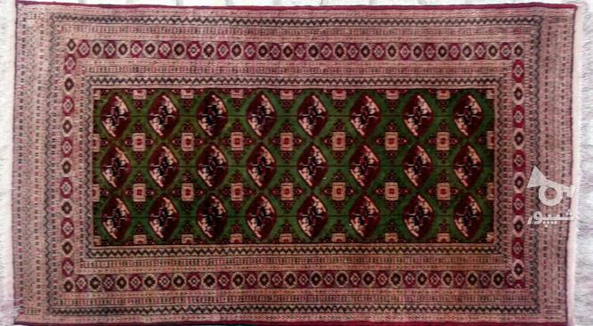قالیچه دست بافت کرک و ابریشم ترکمن 20 ساله در گروه خرید و فروش لوازم خانگی در خراسان شمالی در شیپور-عکس1