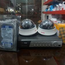 دو دوربین مداربسته آنالوگ با دستگاه چهارکانال در شیپور-عکس کوچک