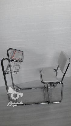 صندلی نماز پشتی دار تنظیمی (چرم سفید) در گروه خرید و فروش لوازم شخصی در خراسان شمالی در شیپور-عکس1