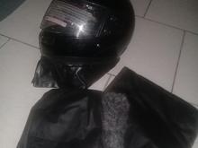 کلاه کاسکت نو ودوعدد دستکش چرم موتور سيکلت در شیپور-عکس کوچک
