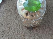 انگشتر نقره با نگین زبرجد آفریقایی در شیپور-عکس کوچک