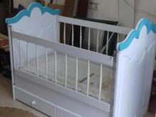 تخت کودک سایز130×70 تمام ام دی اف و وکیوم درحد نو در شیپور-عکس کوچک