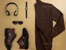 ست بافت مردانه E1499(قهوه ای)و کفش K8800 (قهوه ای) در شیپور-عکس کوچک
