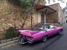 اجاره کرایه خودرو ماشین عروس قدیمی کلاسیک صورتی در شیپور-عکس کوچک