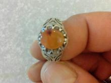 انگشتر عقیق پرتقالی در شیپور-عکس کوچک