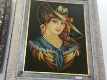 تابلو فرش دختر فرانسوی در شیپور-عکس کوچک