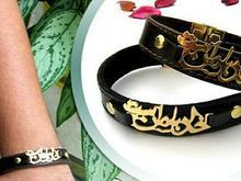 دستبند چرم طرح خدابا من است  در شیپور-عکس کوچک