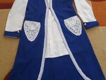 مانتو آبی و سفید دوتیکه سایز 46 در شیپور-عکس کوچک
