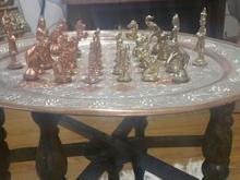 شطرنج سلطنتی برنزی قدیمی انتیک در شیپور-عکس کوچک