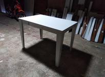 میز نهار خوری 4نفره سفید با پایه اوریب (آک) در شیپور-عکس کوچک