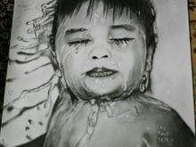نقاش چهره به سبک سیاه قلم در سایزه a3 در شیپور-عکس کوچک