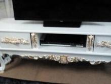 میز تلوزیون سفید و طلایی نو  در شیپور-عکس کوچک