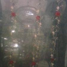 پرده گل برجسته طرح دار شیشه ای رنگ نباتی در شیپور-عکس کوچک