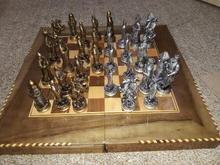 شطرنج و تخته نرد چوبی بهمراه مهره در شیپور-عکس کوچک