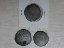 سه عدد سکه آل بویه با قدمت 1000 سال  در شیپور-عکس کوچک