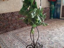 یک عدد گلدان فرفورژه زیبا  در شیپور-عکس کوچک