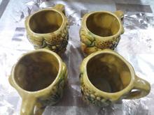 4 عدد لیوان سفالی در شیپور-عکس کوچک
