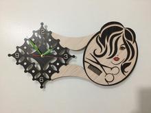 ساعت دیواری فوق لاکچری و دستساز باب سالن آرایش زنانه در شیپور-عکس کوچک
