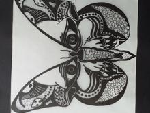 تکنیک ماندالا پروانه جمجمه ای در شیپور-عکس کوچک
