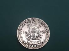 سکه نقره ارزشمند یک شیلینگ انگلستان قدیم در شیپور-عکس کوچک