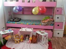 تخت خواب 3طبقه ی دخترانه ام دی اف در شیپور-عکس کوچک