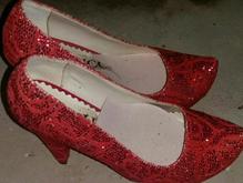 کفش زنانه قرمز در شیپور-عکس کوچک