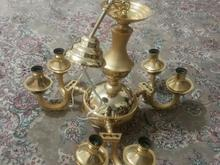 لوستر 6شاخه طلایی در شیپور-عکس کوچک