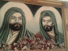 تابلو فرش عکس امام حسین وابوالفضل در شیپور-عکس کوچک