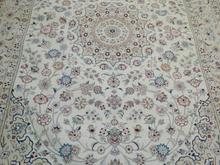 فرش 6 متری دستبافت نقشه نائینی نیمه ابریشم  در شیپور-عکس کوچک