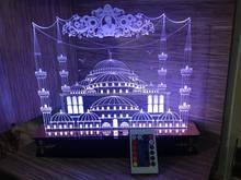 چراغ بالبینگ سه بعدی مسجد مکی در شیپور-عکس کوچک