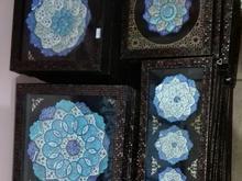 قاب تابلو بشقاب میناکاری هدیه صنایع دستی مینا کاری در شیپور-عکس کوچک