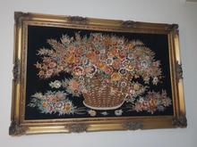 تابلو فرش گل ابریشم تبریز  در شیپور-عکس کوچک