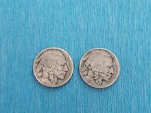 2 سکه سرخپوست/بوفالوی آمریکا در شیپور-عکس کوچک