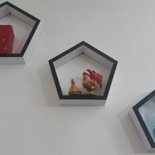 باکس سه عددی ام دی اف پنج ضلعی آکبند در شیپور-عکس کوچک