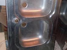 سینک دو قلوی ظرفشویی دو لگن رو کار در شیپور-عکس کوچک