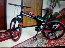 دوچرخه  بنز.بدنه آلمینیوم.رینگ اسپرت.رنگ قرمز مشکی در شیپور-عکس کوچک