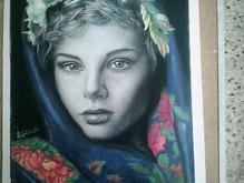 نقاشی چهره سیاه قلم و رنگی با نازل ترین قیمت  در شیپور-عکس کوچک